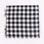 Seat Cushion - Black-White Checkered, 42×42 cm