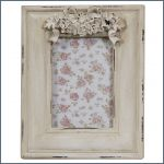 Antique style wooden white picture frame